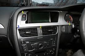audi dashboard a4 b8 stereo removal
