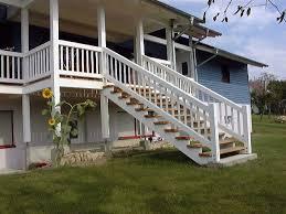 balkon mit treppe holzbau krebs sommergarten terasse