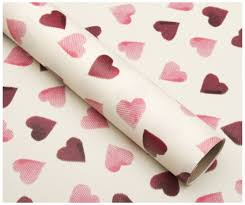 heart wrapping paper bridgewater pink hearts wrapping paper 3 whsmith
