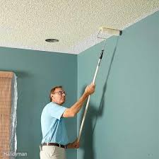 Painting Over Popcorn Ceiling by How To Paint A Ceiling Family Handyman