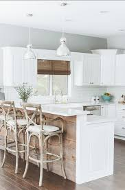Gray Kitchen Cabinets Benjamin Moore by Kitchen With Reclaimed Wood Boards Paint Color
