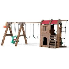 Step 2 Storybook Cottage Used by Naturally Playful Adventure Lodge Play Center With Glider Kids