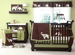 Dahlia Nursery Bedding Set Pink And Green Baby Bedding Sets Sand Scroll Crib Bedding Set Sale