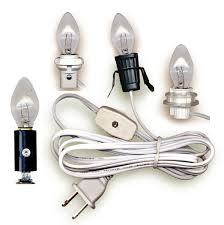 Chandelier Socket Replacement Lamp Cord Sets With Candelabra Base Light Bulb National Artcraft
