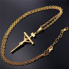 new trendy necklace images Crucifix necklaces women men jewelry new trendy 2 colors platinum jpg