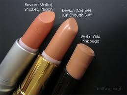 tutorial lipstik revlon revlon just enough buff smoked peach wet n wild pink suga