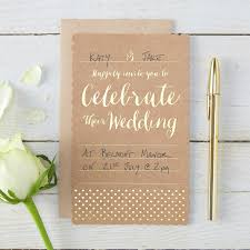 invitations mariage papeterie mariage cartons invitations mariage kraft et or