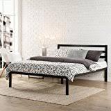 Black Full Size Bed Frame Amazon Com Black Beds Frames U0026 Bases Bedroom Furniture Home