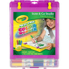crayola color wonder stow u0026 go studio includes mess free markers