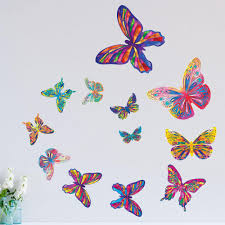 wall murals wall stencils wall stickers kids wall art kids room set of 12 butterfly wall stickers