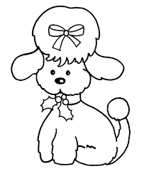 animal printable christmas dog coloring pages coloring tone