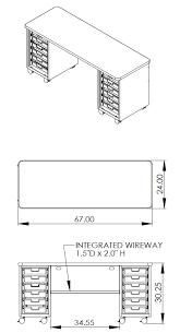 smith system cascade teacher desk double tote cabinet 12 small