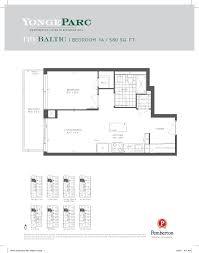 The Parc Condo Floor Plan Yonge Parc Condos Richmond Hill By Pemberton