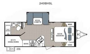 Bunkhouse Trailer Floor Plans Dutchmen Kodiak 240bhsl Bunkhouse Travel Trailer Family Fun For