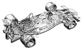 mclaren drawing 1972 mclaren m19a illustration by bill bennett cutaway line