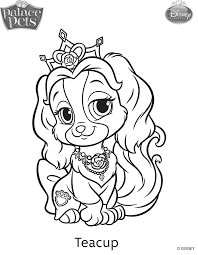palace pets coloring pages getcoloringpages