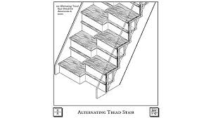 Alternate Tread Stairs Design Marvelous Alternate Tread Stairs Design Alternating Tread Stairs