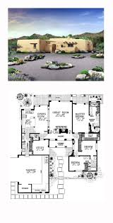 southwest floor plans adobe style cool house plan id chp 49288 total living area