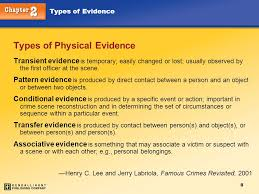 pattern physical evidence chapter 2 types of evidence kendall hunt ppt download