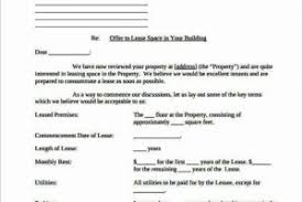 basic offer letter template for apartment rental office space pdf