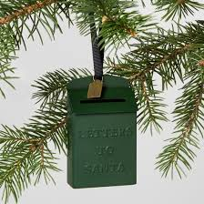 mailbox letters to santa ornament green hearth with