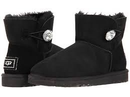 ugg womens mini bailey button sale ugg mini bailey button bling ankle womens black qnet org au