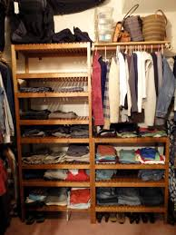 closet system using ikea molger bench ikea hackers ikea hackers