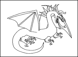 astonishing printable dragon coloring pages for kids with dragon