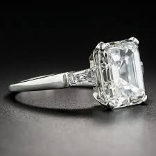 Difference Between Engagement Ring And Wedding Ring by 4 20 Carat Emerald Cut Diamond Ring Gia E Vs1