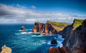 coast on the shores of madeira hd nature wallpaper