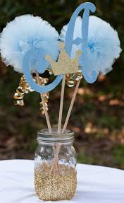 baby boy centerpieces prince baby shower initial blue and gold baby boy centerpiece
