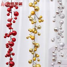 Hanging Decorations For Home Upscale Fujieda Balls String Hanging Christmas Balls Beads String