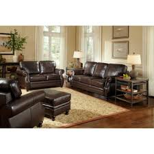 Living Room Furniture Sets Leather Costco S Beckett 4 Top Grain Leather Set For 2500 Living