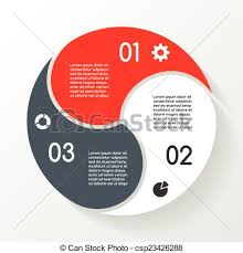 circle layout vector business circle infographic diagram 3 options layout vector
