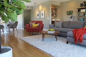 Pretty Apartment Sofa Convention Los Angeles Midcentury Living - Pretty family rooms