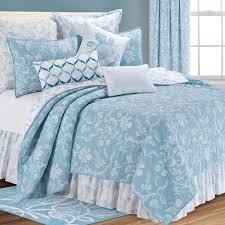 williamsburg eliza lace sky blue quilt bedding