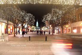 Church Lights Church Street Marketplace With Holiday Lights And Original 1700s