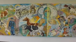 modern mural history of our mural central hospital for veterinary medicine