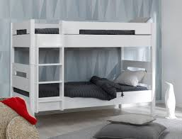 chambre lit superposé lit superposé enfant milo blanc 90x190 chambrekids