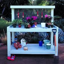 Free Wooden Potting Bench Plans 10 free potting bench plans