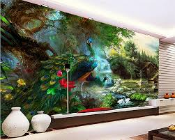 online buy wholesale peacock wall murals from china peacock wall