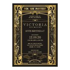 art deco birthday invitations u0026 announcements zazzle