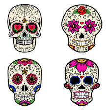 Day Of The Dead White Day Of The Dead Colorful Skull With Floral Ornament Royalty Free