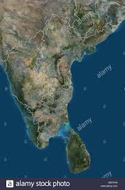 Map Of South India by Satellite View Of South India And Sri Lanka With Administrative