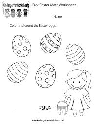 easter math worksheet free kindergarten holiday worksheet for kids