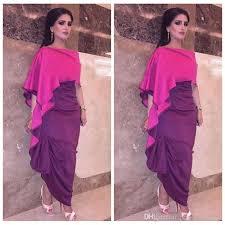 2017 new sheath two color robes kaftan dubai evening dress custom