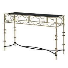 wood and metal console table with drawers cut out metal console table black gold console tables occasional