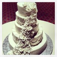 Cascading Floral Cake For Finley Catering Wedding Wedding Cakes