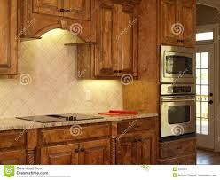 Kitchen Cabinets Luxury Luxury Model Home Maple Kitchen Cabinets Royalty Free Stock