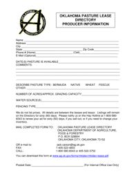 agricultural lease templates for oklahoma fill online printable